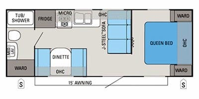 Find Specs for 2013 Jayco - Jay Flight <br>Floorplan: 22 FB (Travel Trailer)
