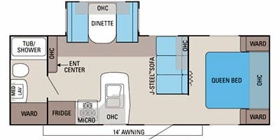 Find Specs for 2012 Jayco - Jay Flight <br>Floorplan: 24 FBS (Travel Trailer)