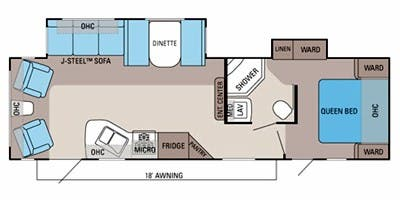 Find Specs for 2012 Jayco - Jay Flight <br>Floorplan: 29 RLDS (Travel Trailer)