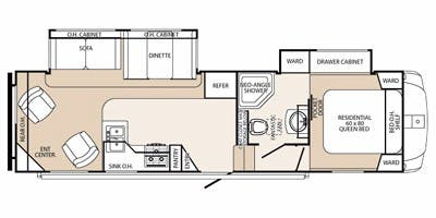 Find Specs for 2012 Palomino - Sabre Silhouette <br>Floorplan: 290 REDS (Fifth Wheel)