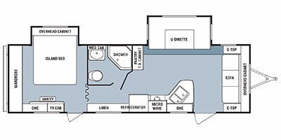 Find Specs for 2012 SunnyBrook - Harmony <br>Floorplan: 29SBS (Travel Trailer)
