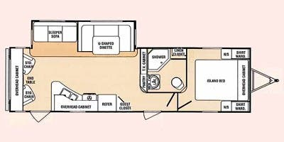 Find Specs for 2012 SunnyBrook - Sunset Creek <br>Floorplan: 292 RLS (Travel Trailer)