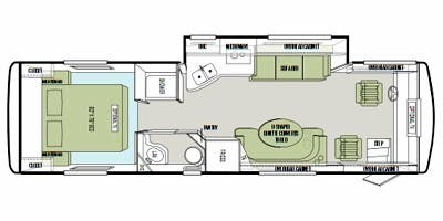 Find Specs for 2015 Tiffin - Allegro Breeze <br>Floorplan: 28 BR (Class A)