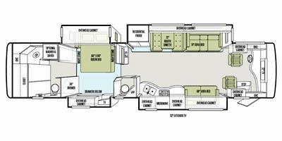 Find Specs for 2012 Tiffin - Allegro Bus <br>Floorplan: 40 QBP (Class A)