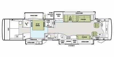 Find Specs for 2012 Tiffin - Allegro Bus <br>Floorplan: 43 QGP (Class A)