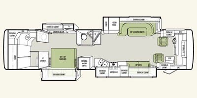 Find Specs for 2012 Tiffin - Allegro Red <br>Floorplan: 38 QRA (Class A)