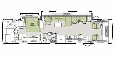 Find Specs for 2012 Tiffin - Allegro <br>Floorplan: 36 LA (Class A)