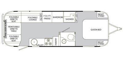 Find Specs for 2014 Airstream - Eddie Bauer <br>Floorplan: 27FB (Toy Hauler)