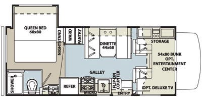 Find Specs for 2015 Forest River - Sunseeker <br>Floorplan: LE 2250S (Class C)