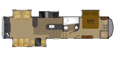 Find Specs for 2013 Heartland  - Bighorn <br>Floorplan: BH 3610RE (Fifth Wheel)
