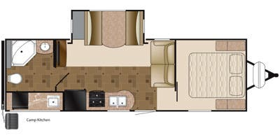 Find Specs for 2013 Heartland - Prowler <br>Floorplan: 26P RBK (Travel Trailer)