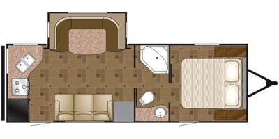 Find Specs for 2013 Heartland - Prowler <br>Floorplan: 24P RKS (Travel Trailer)