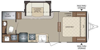 Find Specs for 2014 Keystone - Bullet <br>Floorplan: 212RBSWE (Travel Trailer)