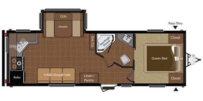 Find Specs for 2013 Keystone - Hideout <br>Floorplan: 25RKS (Travel Trailer)