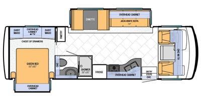 Find Specs for 2013 Newmar - Bay Star <br>Floorplan: 2901 (Class A)