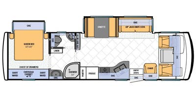 Find Specs for 2013 Newmar - Bay Star <br>Floorplan: 3209 (Class A)