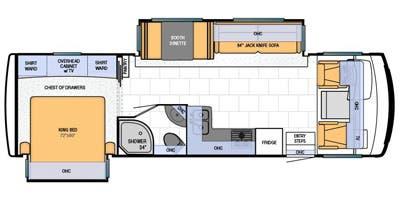Find Specs for 2013 Newmar - Bay Star <br>Floorplan: 3012 (Class A)