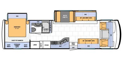 Find Specs for 2013 Newmar - Bay Star <br>Floorplan: 3302 (Class A)