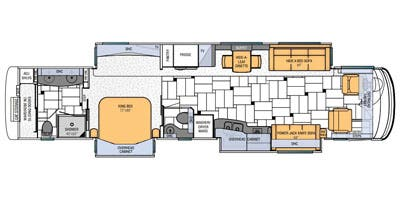 Find Specs for 2013 Newmar - King Aire <br>Floorplan: 4584 (Class A)