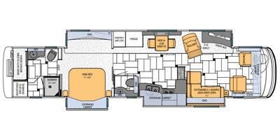 Find Specs for 2013 Newmar - King Aire <br>Floorplan: 4588 (Class A)