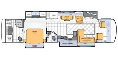 Find Specs for 2013 Newmar - Mountain Aire <br>Floorplan: 4018 (Class A)