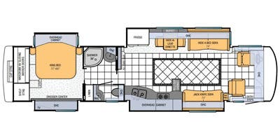 Find Specs for 2013 Newmar - Mountain Aire <br>Floorplan: 4038 (Class A)