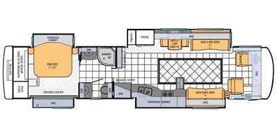 Find Specs for 2013 Newmar - Mountain Aire <br>Floorplan: 4314 (Class A)