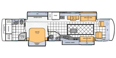 Find Specs for 2013 Newmar - Mountain Aire <br>Floorplan: 4344 (Class A)
