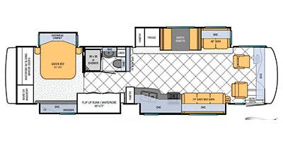 Find Specs for 2013 Newmar - Ventana LE <br>Floorplan: 3843 (Class A)