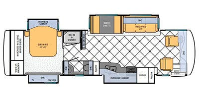 Find Specs for 2013 Newmar - Ventana <br>Floorplan: 3433 (Class A)