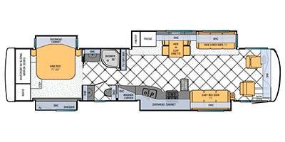 Find Specs for 2013 Newmar - Ventana <br>Floorplan: 4324 (Class A)