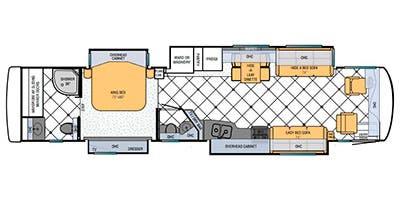 Find Specs for 2013 Newmar - Ventana <br>Floorplan: 4337 (Class A)