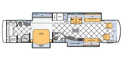 Find Specs for 2013 Newmar - Ventana <br>Floorplan: 4346 (Class A)