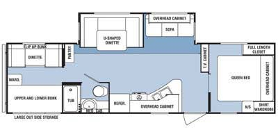 Find Specs for 2013 SunnyBrook - Sunset Creek Sport <br>Floorplan: 298 BH (Travel Trailer)