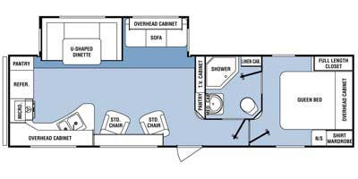 Find Specs for 2014 SunnyBrook - Sunset Creek Sport <br>Floorplan: 299 RK (Travel Trailer)