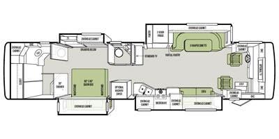 Find Specs for 2014 Tiffin - Allegro Red <br>Floorplan: 38 QRA (Class A)