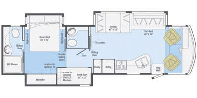 Find Specs for 2015 Itasca - Sunstar <br>Floorplan: 35B (Class A)