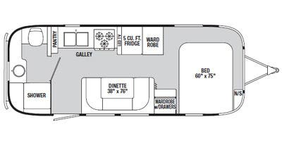 Find Specs for 2014 Airstream - Flying Cloud <br>Floorplan: 23FB (Travel Trailer)