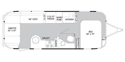 Find Specs for 2014 Airstream - Flying Cloud <br>Floorplan: 25FB (Travel Trailer)