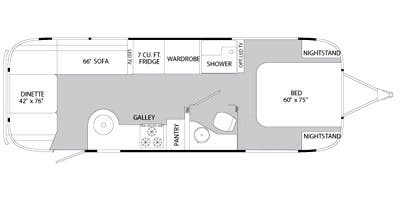Find Specs for 2014 Airstream - Flying Cloud <br>Floorplan: 27FB (Travel Trailer)