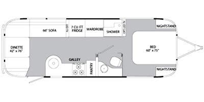 Find Specs for 2014 Airstream - Flying Cloud <br>Floorplan: 28 (Travel Trailer)