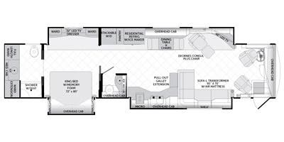 Full specs for 2014 american coach american tradition 42g for Traditions of america floor plans