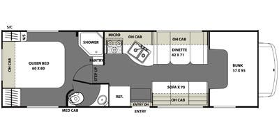 Find Specs for 2014 Coachmen - Freelander  <br>Floorplan: 28QB (Class C)