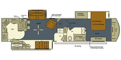 Full Specs For 2014 Lifestyle Luxury Rv Bay Hill 340rk Rvs Rvusa Com