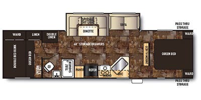Find Specs for 2015 Forest River - Cherokee <br>Floorplan: 284BF (Travel Trailer)