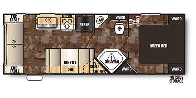 Find Specs for 2014 Forest River - Grey Wolf <br>Floorplan: 25RL (Travel Trailer)