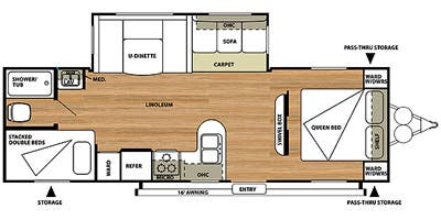 Find Specs for 2014 Forest River - Salem <br>Floorplan: 27DBUD (Travel Trailer)