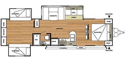 Find Specs for 2014 Forest River - Salem <br>Floorplan: 31QBTS (Travel Trailer)