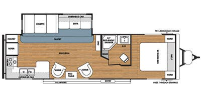 Find Specs for 2014 Forest River - Salem <br>Floorplan: T27RKSS (Travel Trailer)