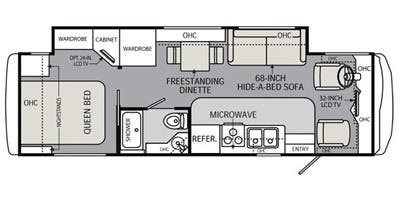 Find Specs for 2014 Holiday Rambler - Vacationer <br>Floorplan: 30SFS (Class A)